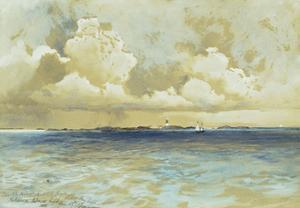 Bahama Island Light, 1883 by Thomas Moran