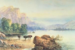 Buffalo Watering, 1887 by Thomas Moran