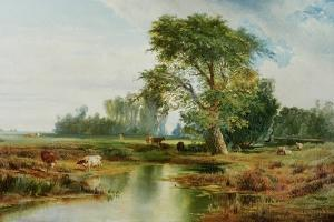 Cattle Watering, 1888 by Thomas Moran
