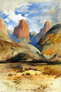 Colburn's Butte, South Utah, 1873 by Thomas Moran