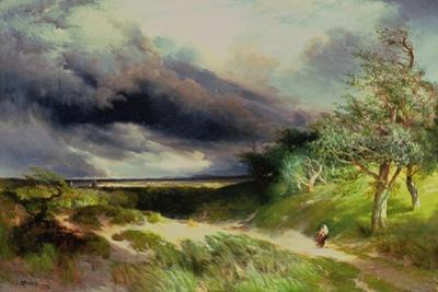 East Hampton, Long Island, Sand Dunes, 1892 by Thomas Moran