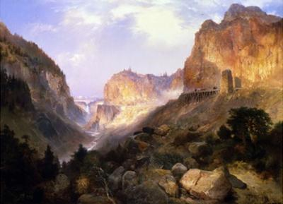 Golden Gate, Yellowstone National Park by Thomas Moran