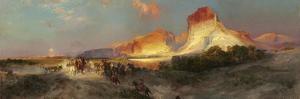 Green River Cliffs, Wyoming, 1881 by Thomas Moran