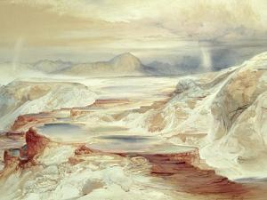 Hot Springs of Gardiner's River, Yellowstone, 1872 (W/C on Paper) by Thomas Moran