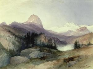 In the Bighorn Mountains, 1889 by Thomas Moran