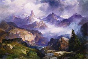 Index Peak, Yellowstone National Park, 1914 by Thomas Moran