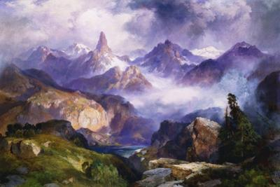 Index Peak, Yellowstone National Park, 1914 by Thomas Moran