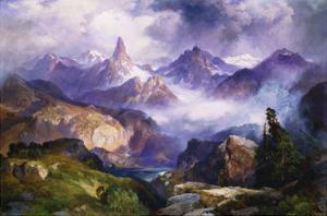 Index Peak, Yellowstone National Park by Thomas		 Moran