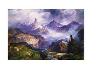 Index Peak, Yellowstone National Park by Thomas Moran