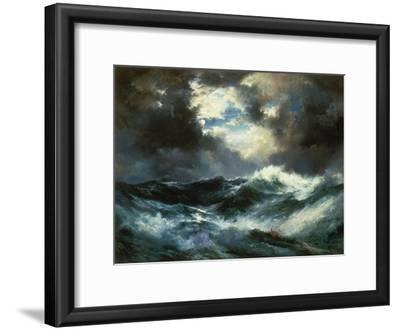 Shipwreck in Stormy Sea at Night