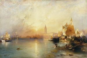 Sunset, Venice; Santa Maria and the Ducal Palace, 1902 by Thomas Moran