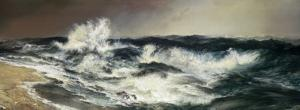 The Much Resounding Sea by Thomas Moran