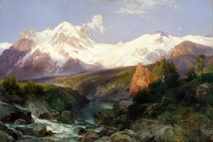 The Teton Range, 1897 by Thomas Moran