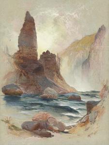 Tower at Tower Falls, Yellowstone, 1872 by Thomas Moran