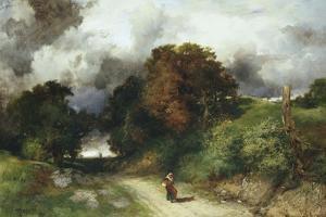 Windy Hilltop - Amagansett, L.I. 1901 by Thomas Moran