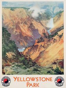 Yellowstone Park, 1934 by Thomas Moran