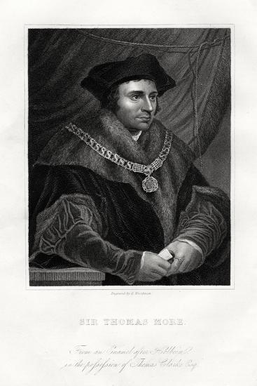 Thomas More, English Statesman, Scholar and Saint, 19th Century-Richard Woodman-Giclee Print