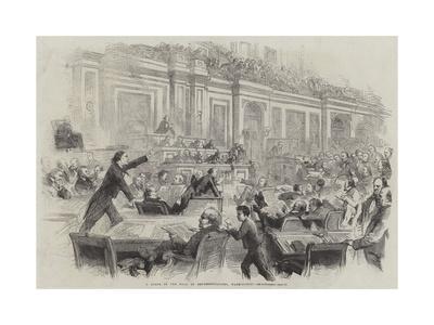 A Scene in the Hall of Representatives, Washington