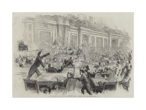 A Scene in the Hall of Representatives, Washington by Thomas Nast