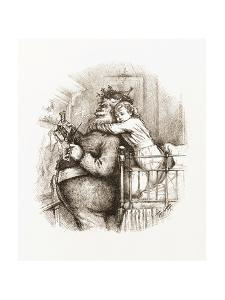 Caught!' Illustration with Santa Claus by Thomas Nast, 1892 by Thomas Nast