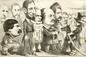 May the Best Man Win! Uncle Sam Reviewing the Army of Candidates, 1864 by Thomas Nast