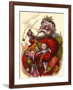 Santa Holds Armful of Toys, 1880 by Thomas Nast