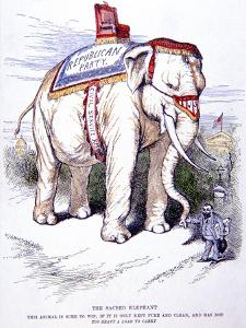 'The Sacred Elephant', 1884 by Thomas Nast