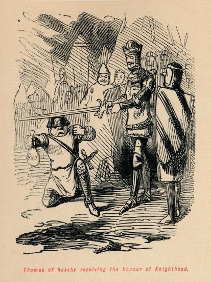 'Thomas of Rokeby receiving the honour of Knighthood', c1860, (c1860)-John Leech-Giclee Print