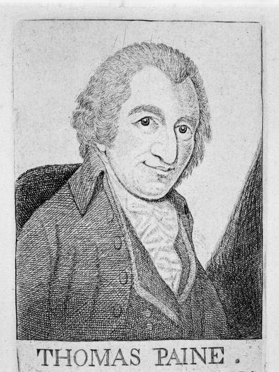 Thomas Paine, English-Born American Revolutionary, Writer and Philosopher, C1790-John Kay-Giclee Print