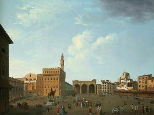 View of the Piazza Della Signoria, Florence by Thomas Patch
