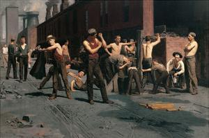 The Ironworkers at Noontime by Thomas Pollock Anshutz