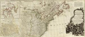 New Map of North America, with the West India Islands (Northern section), c.1786 by Thomas Pownall
