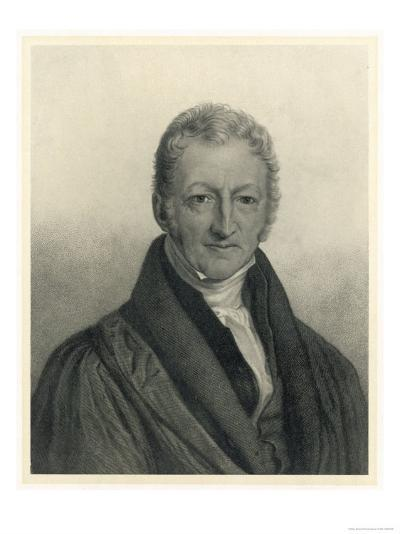 Thomas Robert Malthus Philosopher Known for Study of Population--Giclee Print