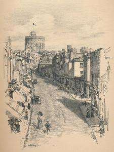 Great Tower of Windsor Castle from Peascod Street, 1902 by Thomas Robert Way