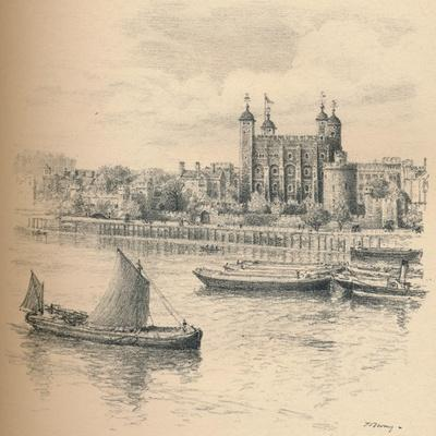 The Tower of London from Tower Bridge., 1902