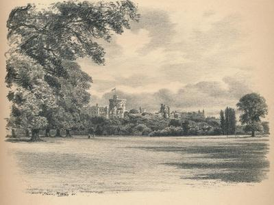 Windsor Castle from the Home Park, 1902