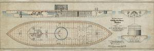 Uss Monitor General Plans by Thomas Rowland