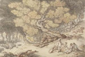 A Woodcutter's Picnic by Thomas Rowlandson