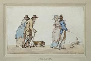 Age and Youth by Thomas Rowlandson