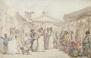 Covent Garden Market, C.1795-1810 (Pen and Ink, W/C and Pencil on Wove Paper) by Thomas Rowlandson