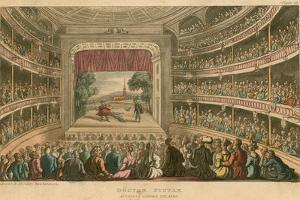 Dr Syntax at Covent Garden Theatre, London by Thomas Rowlandson