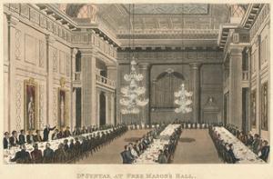 'Dr Syntax at Free Mason's Hall', 1820 by Thomas Rowlandson