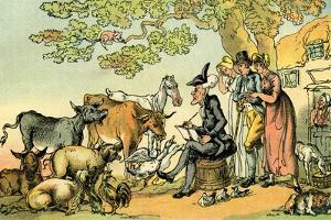 'Dr Syntax sketching after nature' by Thomas Rowlandson