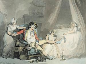 Four O'Clock in the Town by Thomas Rowlandson