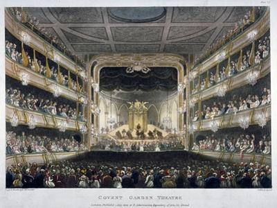Interior View of Covent Garden Theatre, Bow Street, Westminster, London, 1808 by Thomas Rowlandson