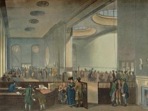 'Lloyd's Subscription Rooms As Seen By Rowlandson in 1800', 1928 by Thomas Rowlandson