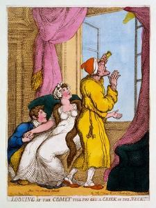 Looking at the Comet Till You Get a Criek in the Neck, 1811 by Thomas Rowlandson