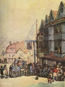'Market Day outside the Old Red Lion at Greenwich', (1938) by Thomas Rowlandson