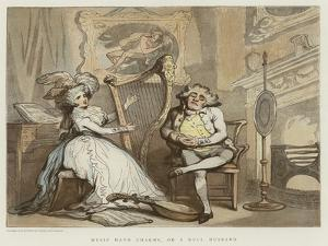 Music Hath Charms, or a Dull Husband by Thomas Rowlandson