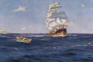 Off Valparaiso by Thomas Rowlandson